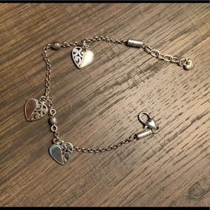 Brighton Silver Heart Ankle Bracelet